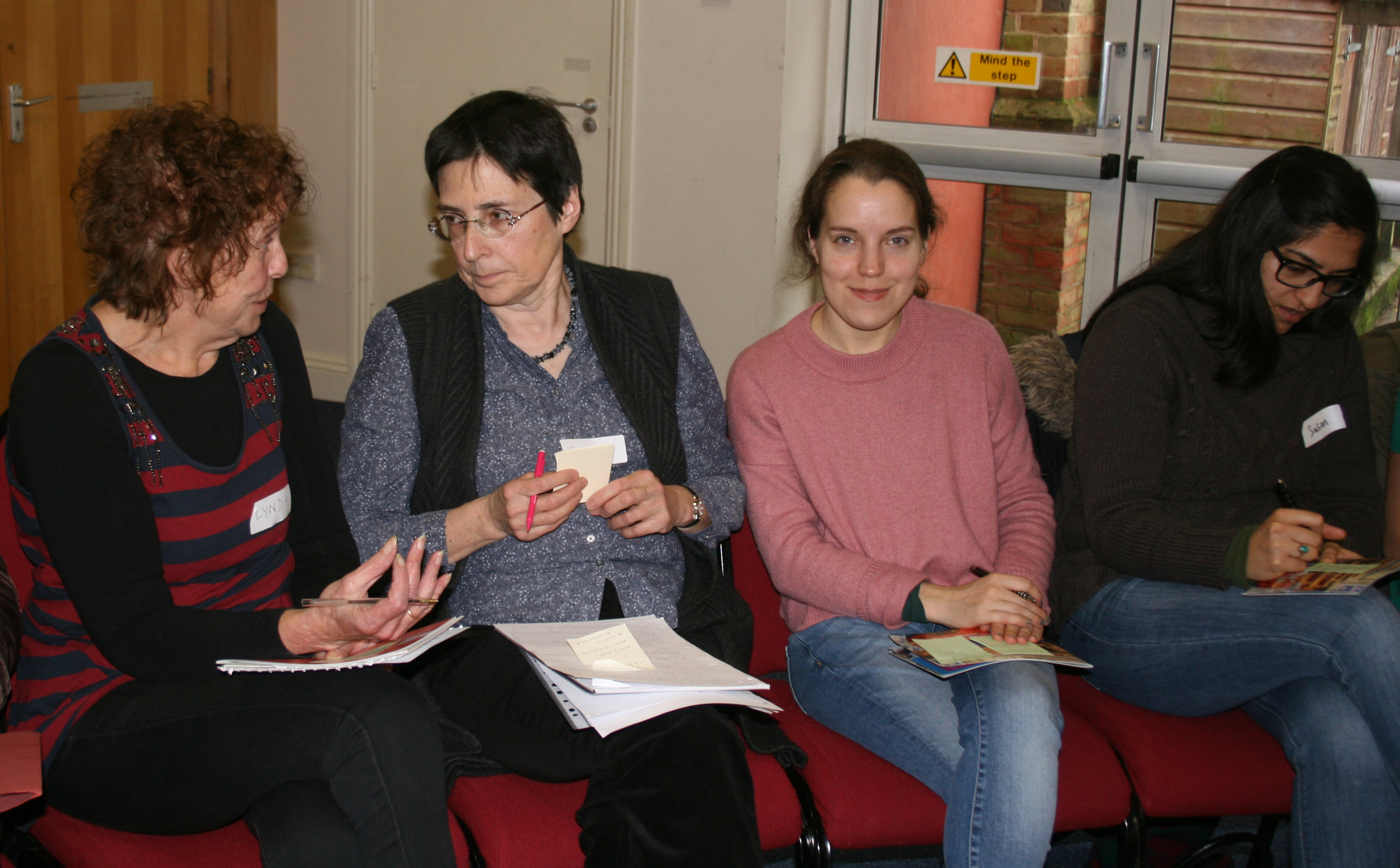New members attend a training session