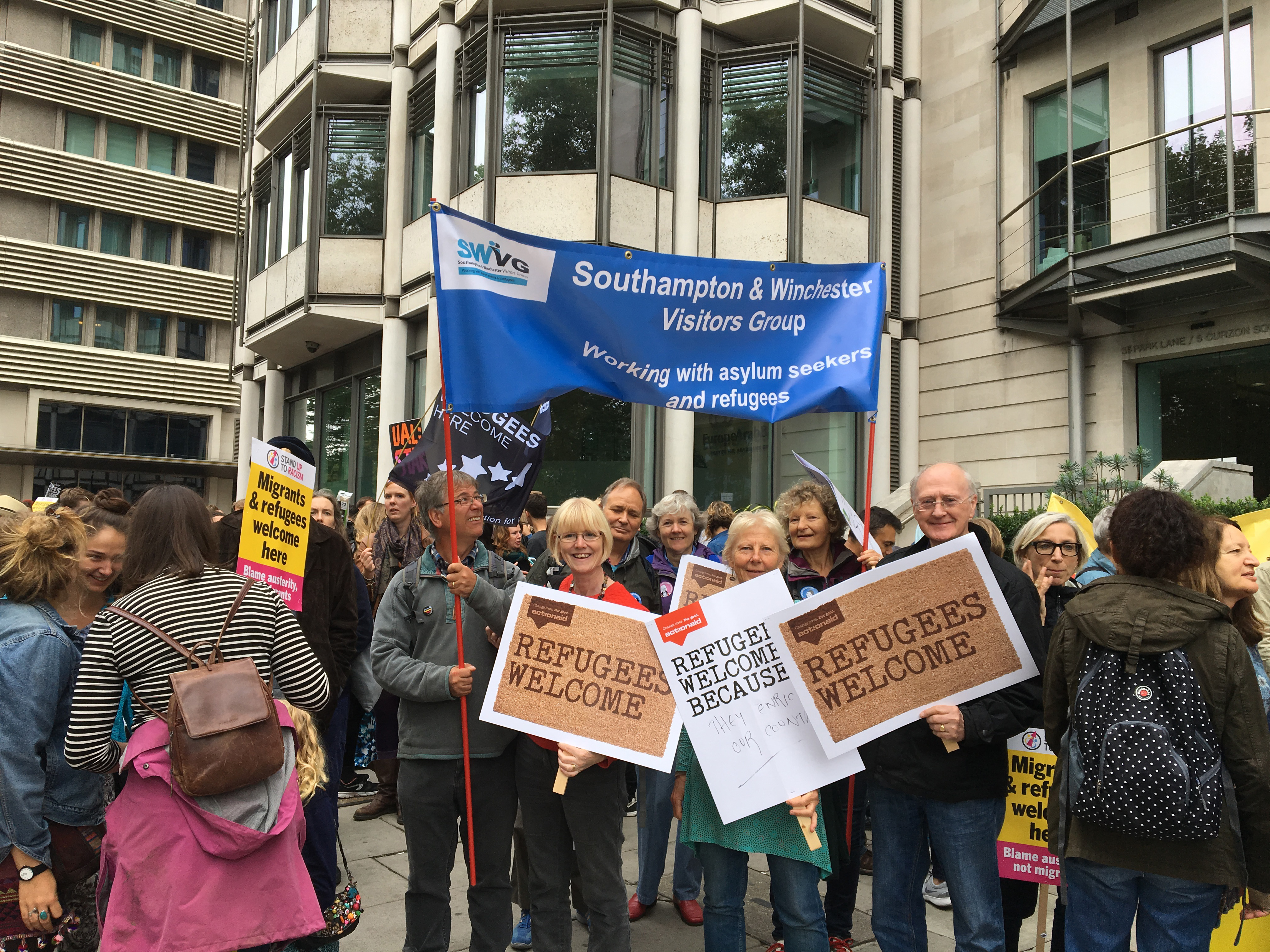 SWVG members support Refugees Welcome march in London